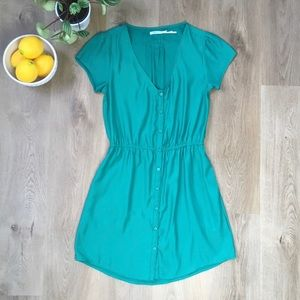 Kimchi Blue Urban Outfitters Emerald Green Dress